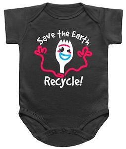 Forky Save The Earth Recycle Baby Bodysuit