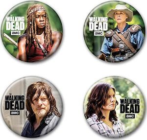 The Walking Dead Button Set