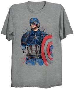 Marvel Watercolor Captain America T-Shirt