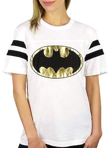 Women's Gold Foil Batman Logo t-shirt