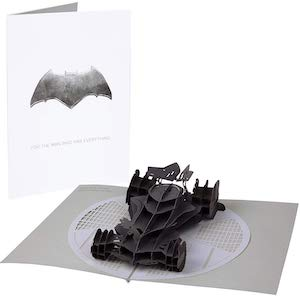 Batman Pop-Up Card With 3D Batmobile