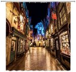 Diagon Alley Harry Potter Shower Curtain (1)