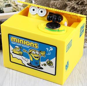Despicable Me Minion Stealing Coins Money Bank