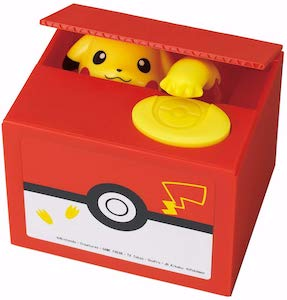 Pikachu Stealing Coins Money Bank