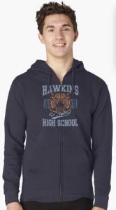 Stranger Things Hawkins Tigers Hoodie