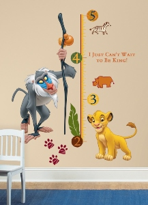 The Lion King Wall Decal Growth Chart