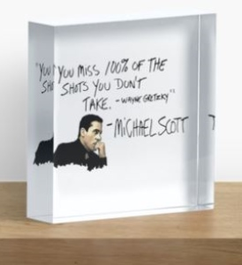 The Office Michael Scott Quote Acrylic Box