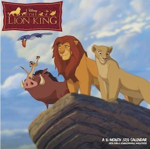 2020 The Lion King Wall Calendar