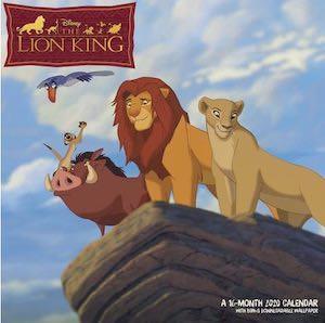 2020 The Lion King Wall Calendar