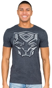 Black Panther Logo Face T-Shirt