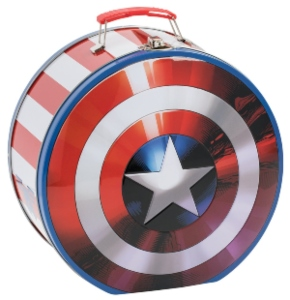 Captain America Tin Shield Lunch Box