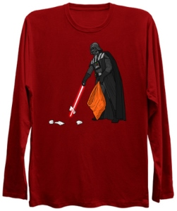 Darth Vader Litter Pick Up Long Sleeve Shirt