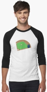 Doctor Who On First Baseball Shirt