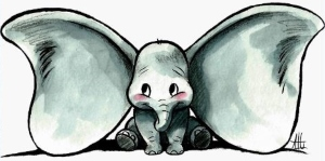 Dumbo Sketch Decal Sticker