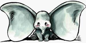 Dumbo Sketch Decal Sticker