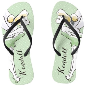 Tinker Bell Personalized Flip Flops