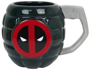 Deadpool Grenade Sculpted Mug