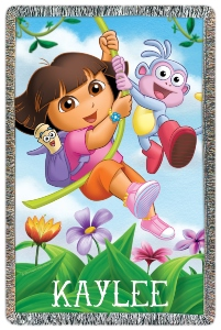 Dora The Explorer Personalized Throw Blanket