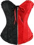 Red And Black Harley Quinn Costume Corset