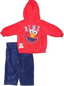 Sesame Street Infant Fleece Elmo Hoodie And Pants