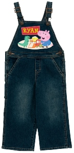 Peppa Pig Personalized Denim Overalls