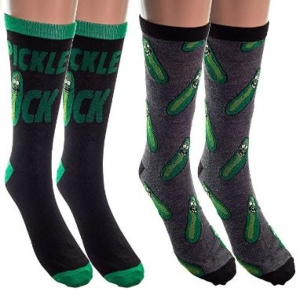 Pickle Rick 2 Pack Socks
