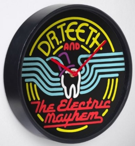 Dr. Teeth And The Electric Mayhem Neon Clock