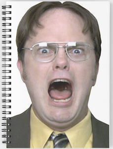 Dwight Schrute Notebook