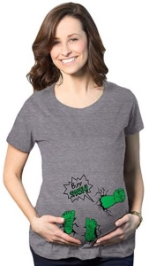 Hulk Bump Smash Maternity T-Shirt
