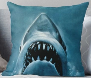 Jaws Shark Throw Pillow