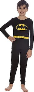 Kids Black Batman Pajama Set