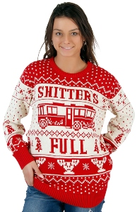 Shitters Full Ugly Christmas Sweater