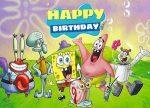 SpongeBob Birthday Backdrop