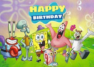 SpongeBob Birthday Backdrop