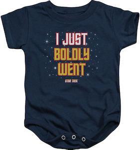 Star Trek I Just Boldly Went Baby Bodysuit