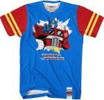 Transformers Striped Sleeves Optimus Prime T-Shirt