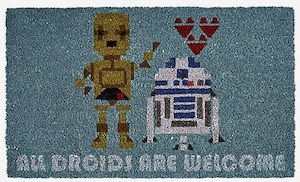 Star Wars All Droids Are Welcome Doormat