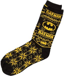 Batman Christmas Socks
