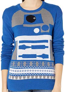Blue R2-D2 Christmas Sweater