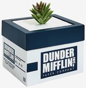 The Office Dunder Mifflin Planter