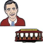 Fred Rogers And Trolley Pin Set