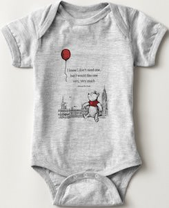 Winnie the Pooh Wants Balloon Baby Bodysuit