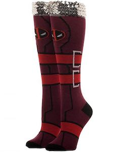 Women's Deadpool Socks With Sequin