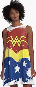 Wonder Woman Painted Dress