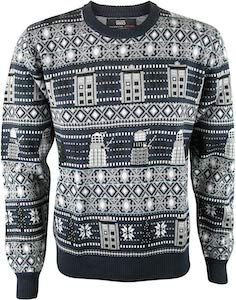 Grey Doctor Who Christmas Sweater