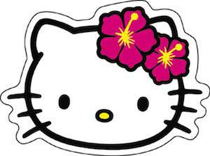 Hello Kitty With Flowers Sticker