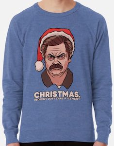 Ron Swanson Don't Care If It's Merry Christmas sweater