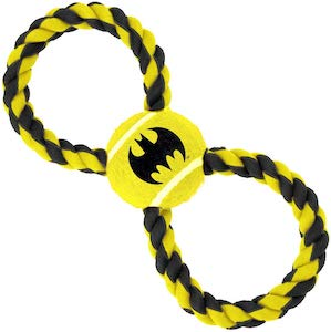 Tennis Ball And Rope Batman Dog Toy