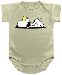 Snoopy And Woodstock Nap Time Baby Bodysuit