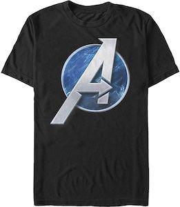 Marvel Blue Avengers Logo T-Shirt